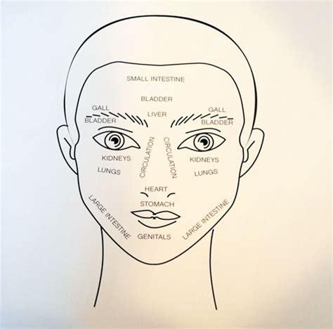 face mapping on pinterest estheticians facial massage map frame facial reflex zones