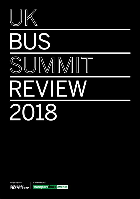 UK Bus Summit Review 2018 by Passenger Transport