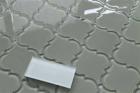 Mother Of Pearl Subway Tile Backsplash - taupe arabesque glass mosaic tiles rocky point tile glass and mosaic tile store