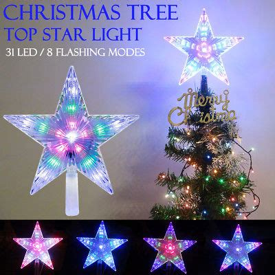 led christmas tree multi color changing topper tree topper led 8 modes decor pentagram ls cad 9 46