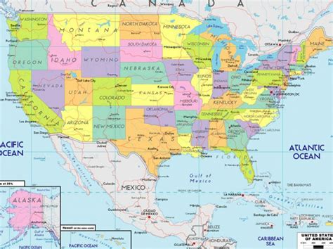 usa map with states and their capitals map of the united states and their capitals pictures 1