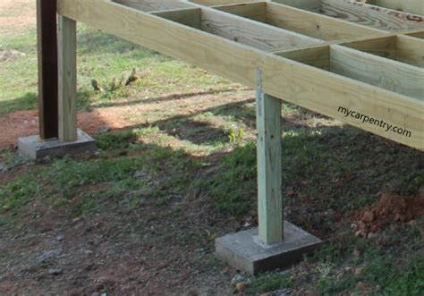 post with cement footing carpentry cedar deck designing and building a deck using western
