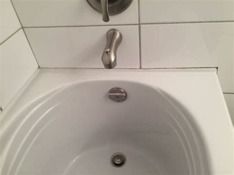 Tiling Side Of Bathtub by Cover Tub Flange Terry Plumbing Remodel Diy