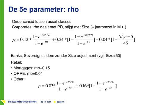 Credit Rwa Formula Basel Ii Regulering In De Praktijk