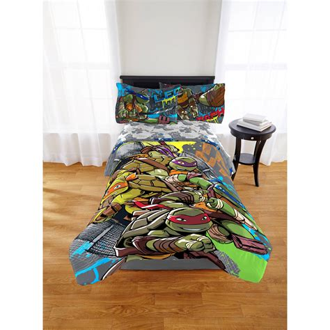 full size ninja turtle comforter teenage mutant ninja turtles cross hatching twin full