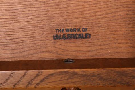 ljg stickley  door wardrobe dresser california