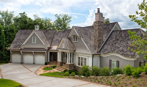 Queen Anne Style Homes shingle style on keowee gabriel builders