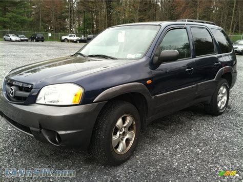 2003 mazda tribute lx v6 4wd in calypso blue metallic
