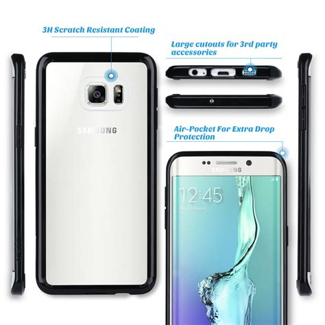 Samsung Galaxy S6 Edge Bumper Armor Hardcase Cover Casing Keren Elegan for samsung galaxy s6 edge plus clear back