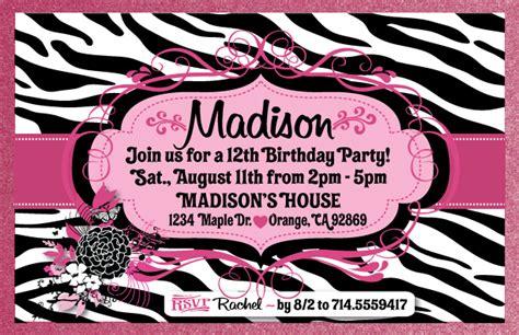 free printable zebra stripe party invitations free printable zebra print birthday invitations