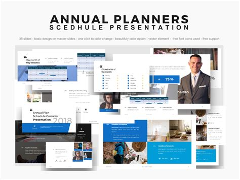 Powerpoint Templates Annual Planner Presentation 2018 Powerpoint Template 64155 2018 Powerpoint Template