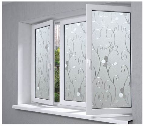 opaque bathroom window 45x100cm 3d pvc flower pattern glass film frosted opaque