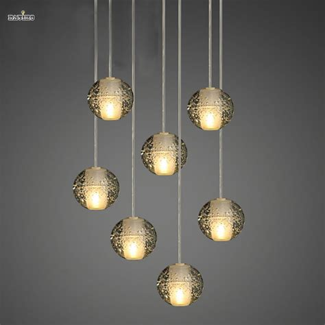 modern ball shaped hardware led pendant lighting for kitchen modern clear air bubble meteor shower crystal ball pendant