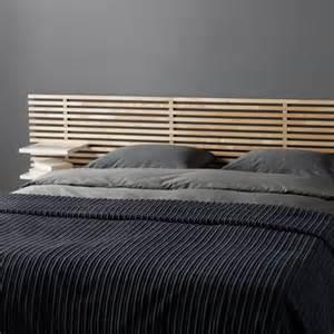 fabriquer une tete de lit en bois avec rangement mzaol