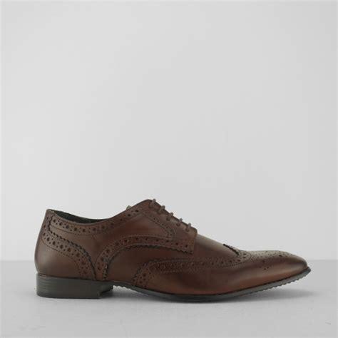 Silver Portman Smart Shoes by Silver Portman Mens Derby Brogues Brown