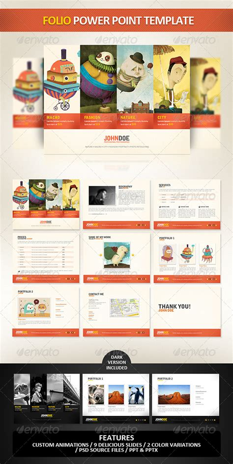 design folio template folio powerpoint presentation template powerpoint