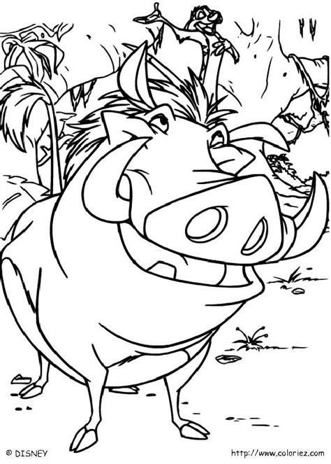 Coloriage Joyeux Timon Et Pumbaa