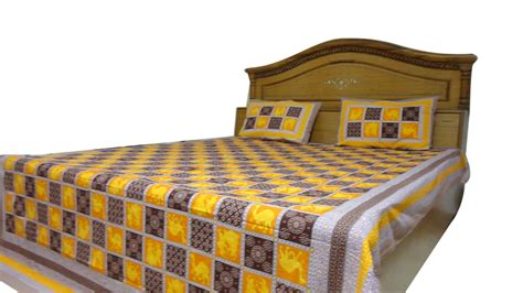 100 thesweethome sheets bed sheet rangilo rajasthan jaipuri double bedsheet and 2 covers 100 cotton bed sheet