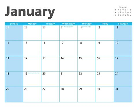 free printable january 2015 planner january 2015 calendar page free stock photo public