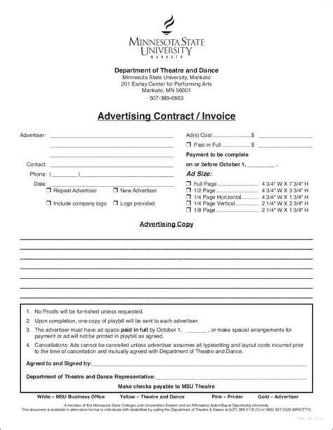 marketing invoice template 9 advertising invoice templates pdf