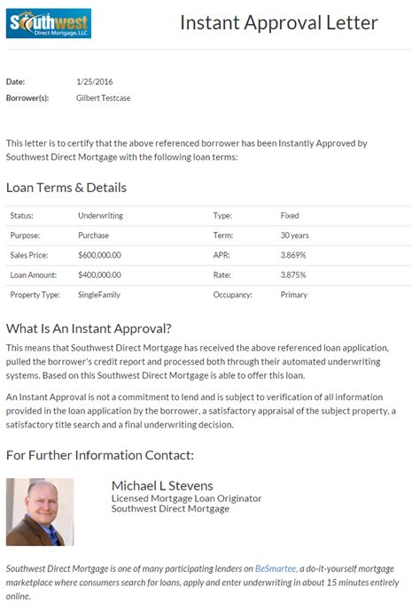 Mortgage Loan Approval Letter Besmartee The Advantages Of Besmartee For Real