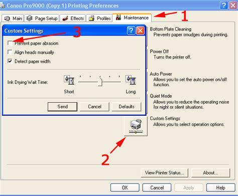 cara reset canon mp198 e8 mengatur jeda cetak antar kertas di printer canon blog