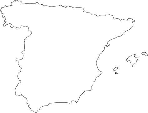 geography spain outline maps