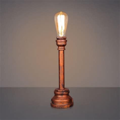 single light single light pipe desk l in antique copper finish