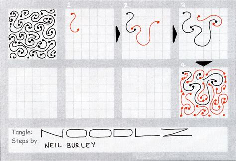 how to start a zendoodle noodlz tangle pattern perfectly4med artist at