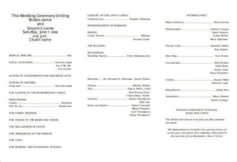 wedding program template instant download edit wording chic