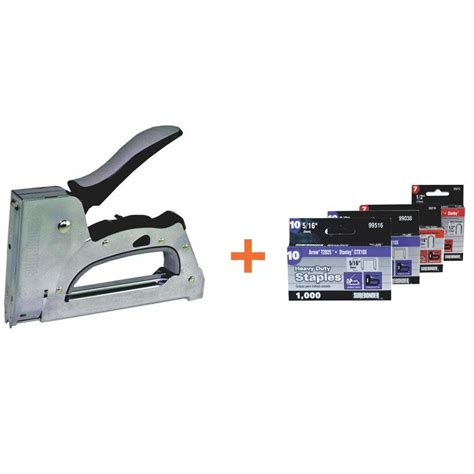 surebonder cable tacker staple gun with staples 6