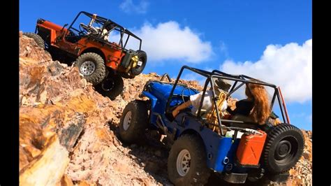 114 Rc Rock Crawler Jeep Of Road dos amigos 9 rc jeep scale trail and rock crawling quarry road trucks 4x4 park