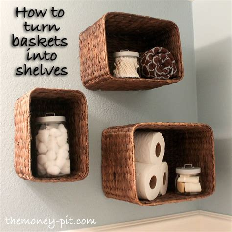 Bathroom Wall Shelves With Baskets Best 25 Hanging Basket Storage Ideas On Ready