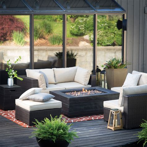 outdoor sectional with table belham living marcella wicker sectional with bozeman