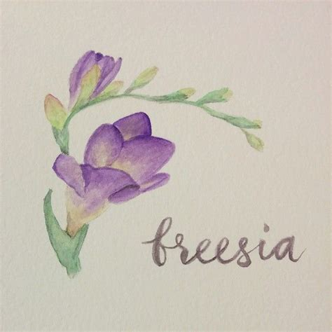freesia flower tattoo www pixshark com images