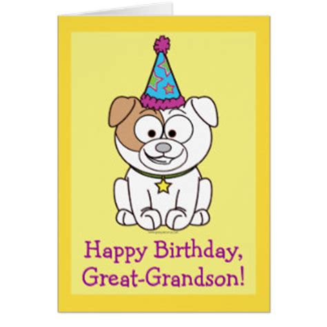 Grandson Birthday Wishes Greeting Cards Great Grandson Birthday Cards Zazzle