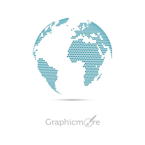 dotted map globe design free vectors file download