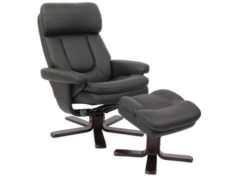 siege relaxation fauteuil relaxation repose pieds charles coloris noir en