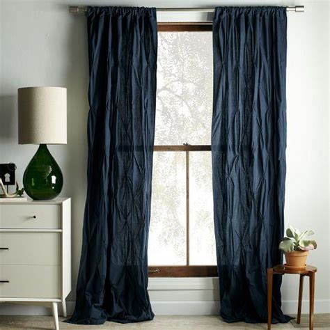 pintuck drapes pintuck curtain regal blue west elm