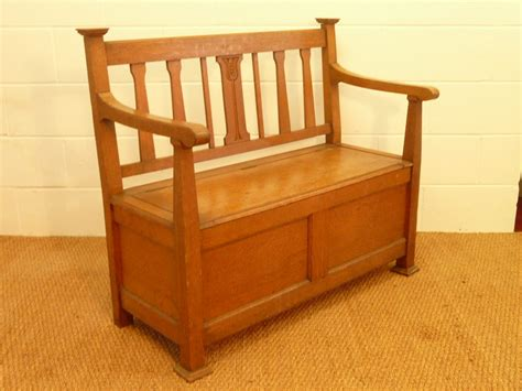 hall benches arts crafts hall bench settle antiques atlas