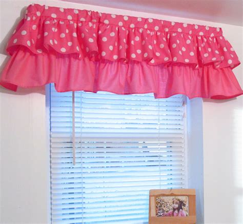 pink minnie mouse curtains tiered ruffled valance pink polka dot minnie mouse custom