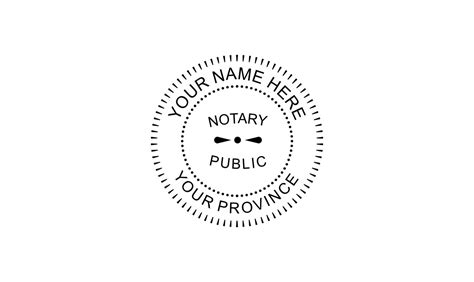 Notary Public Rubber St Company Seal Template