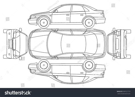 car line draw insurance rent damage stock vector 309121715