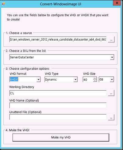 hyper v,system center and azure: create sysprep vhd and