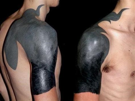 blacked out arm tattoo blackout tattoos search inked
