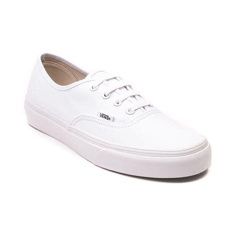 white shoe vans authentic skate shoe true white 499367