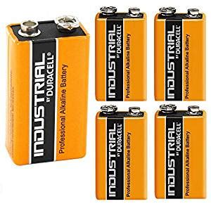 5x genuine duracell industrial 9v pp3 mn1604 block: amazon