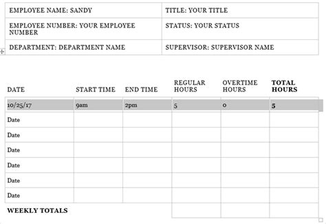 Need A Timesheet Template To Track Your Hours Here Are 12 Timesheet Template Microsoft Word