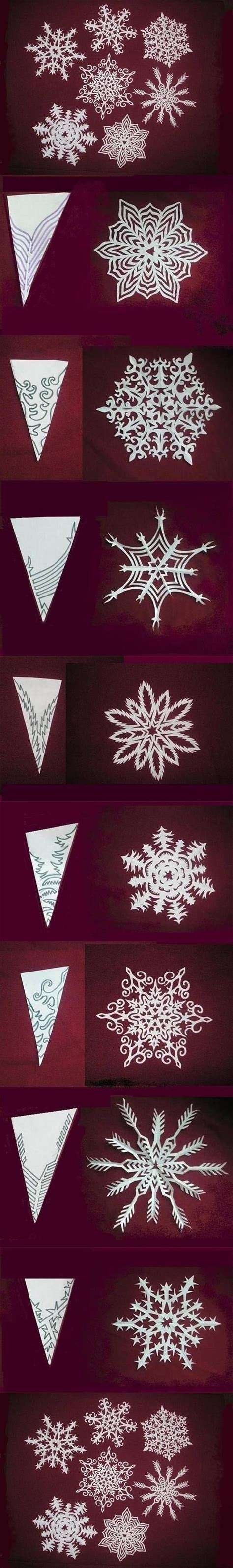 How To Make Paper Snowflakes Patterns - how to make paper snowflakes pictures photos and images