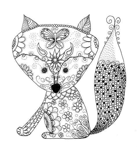 Best Kitchen Colors - baby fox coloring page southernskystudio sellfy com